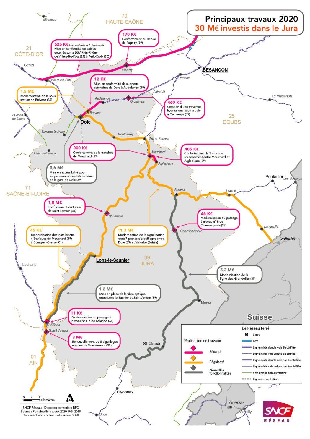 Cartographie 2020 Des Travaux Sncf Reseau Dans Le Jura 39 Sncf Reseau
