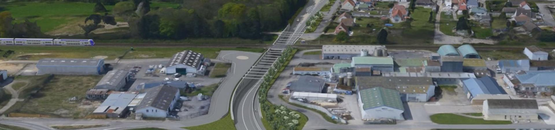 Suppression du passage à niveau de Verton et création d'un ouvrage sous les voies ferrées