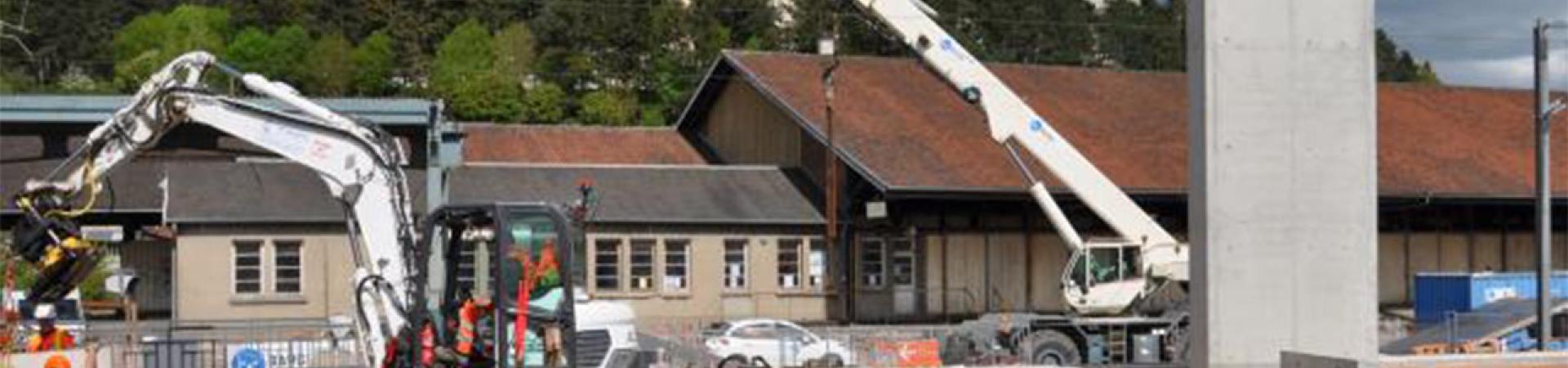 Visite d'étape du chantier de mise en accessibilité de la gare de Lisieux